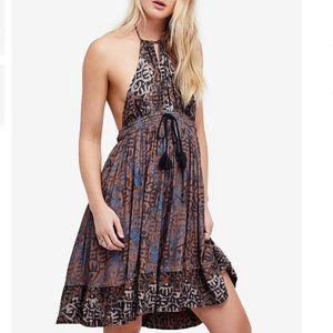 NWT Free People Beach Day Halter Mini Dress